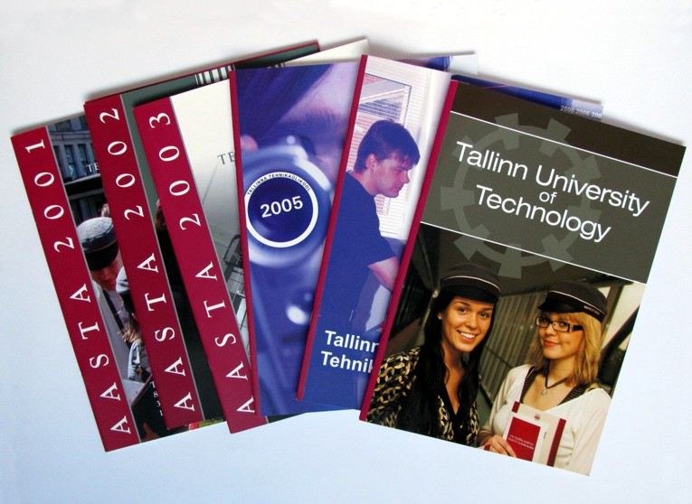 Prints for Tallinn University of Technology, 2001-2007. Cover design Aili Mittal-Jõgiste