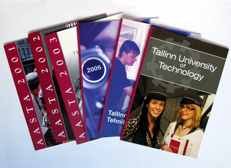 Prints for Tallinn University of Technology, 2001-2007. Cover design Aili Mittal-Jõgiste