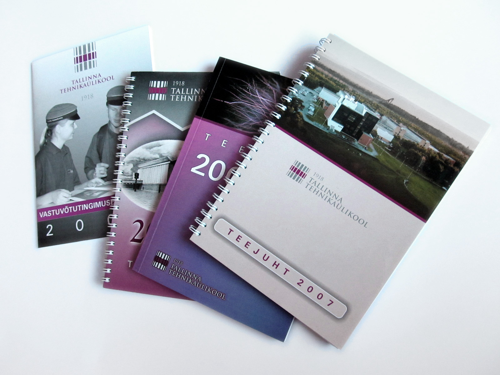 Information books and brochures for Tallinn University of Technology, 2001–2007. Design Aili Mittal-Jõgiste