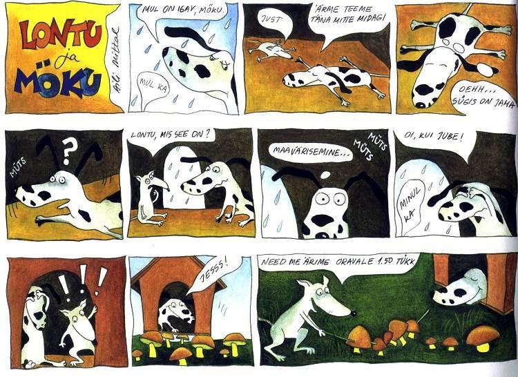Comics Lontu and Möku, 2000. Aili Mittal-Jõgiste