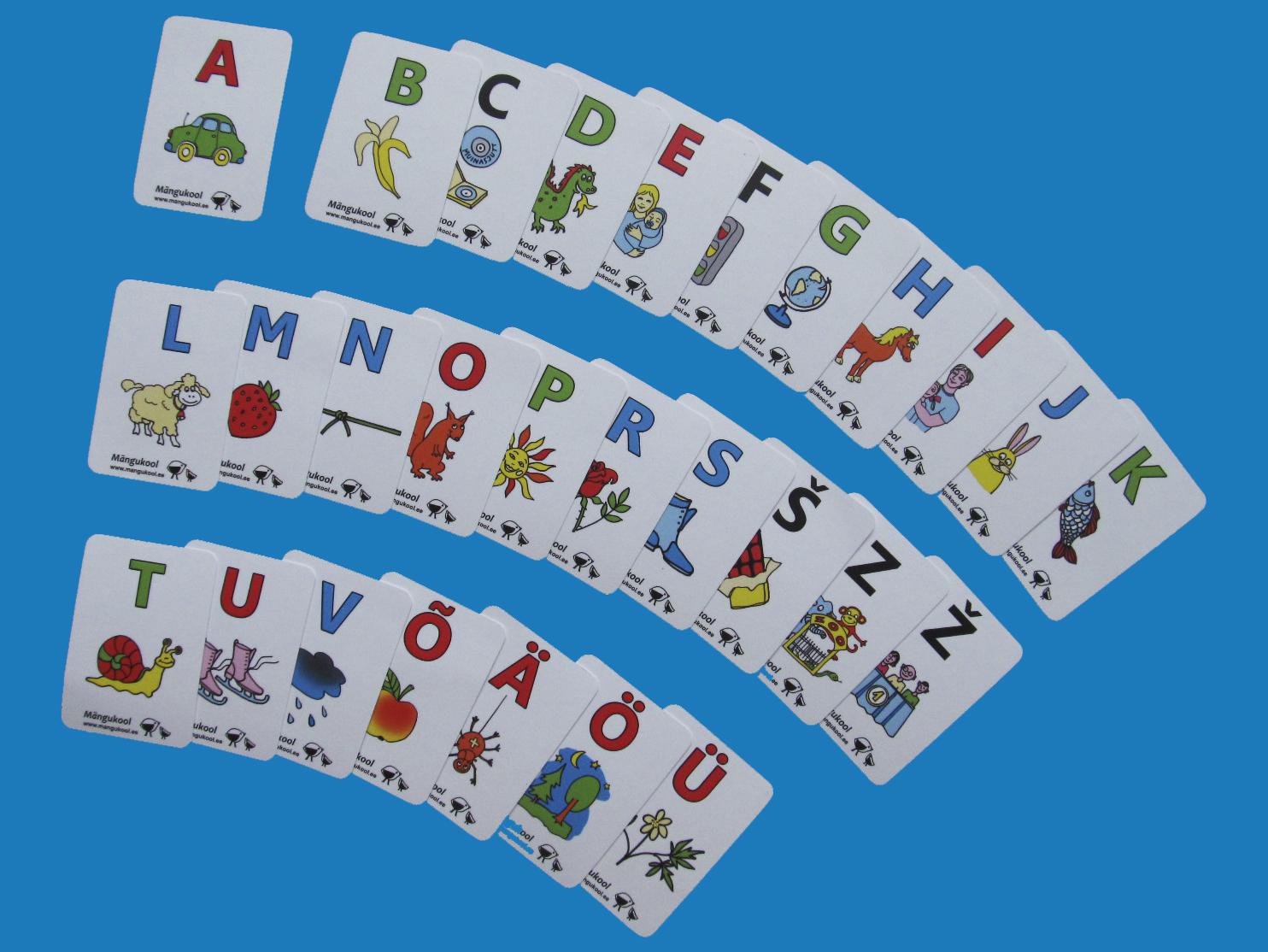 Mängukaardid koolieelikutele, A-Ü