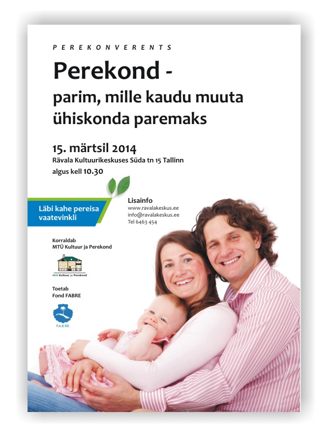 Perekonverents 2014, poster. Design and layout Grafilius OÜ