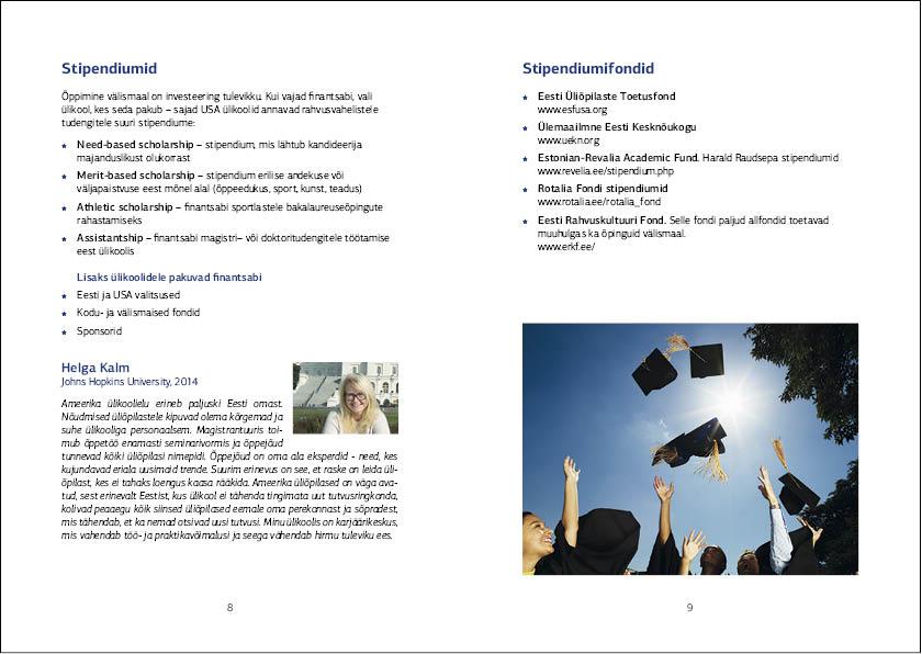 Education USA, Tallinn 2014. Layout Grafilius OÜ