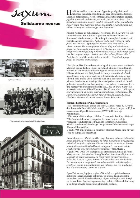 Alvaro del Portillo 100. sünniaastapäeva tähistav plakatite sari, 3. osa. Kujundanud Aili Mittal-Jõgiste