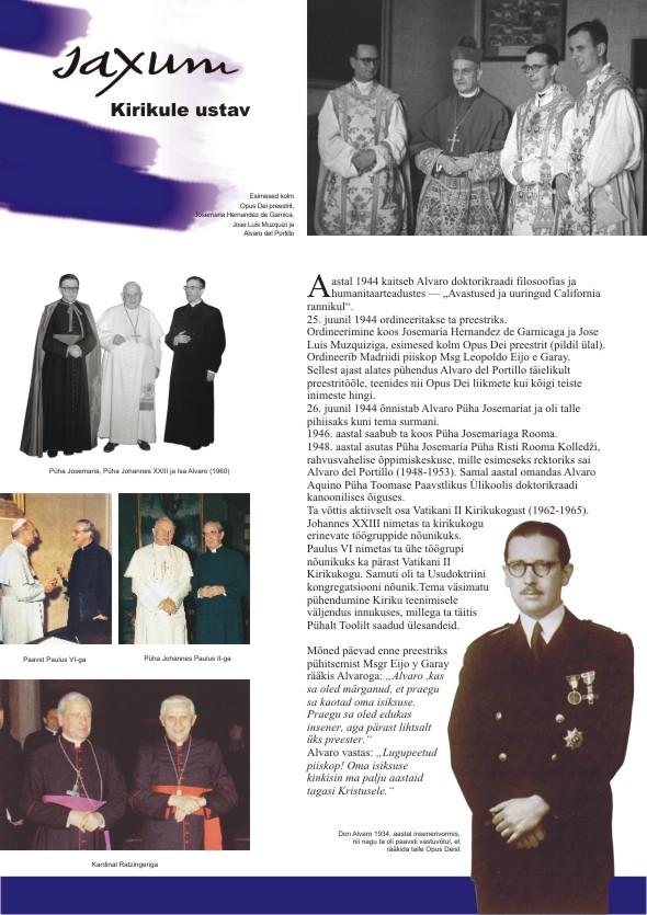 Alvaro del Portillo 100. sünniaastapäeva tähistav plakatite sari, 4. osa. Kujundanud Aili Mittal-Jõgiste