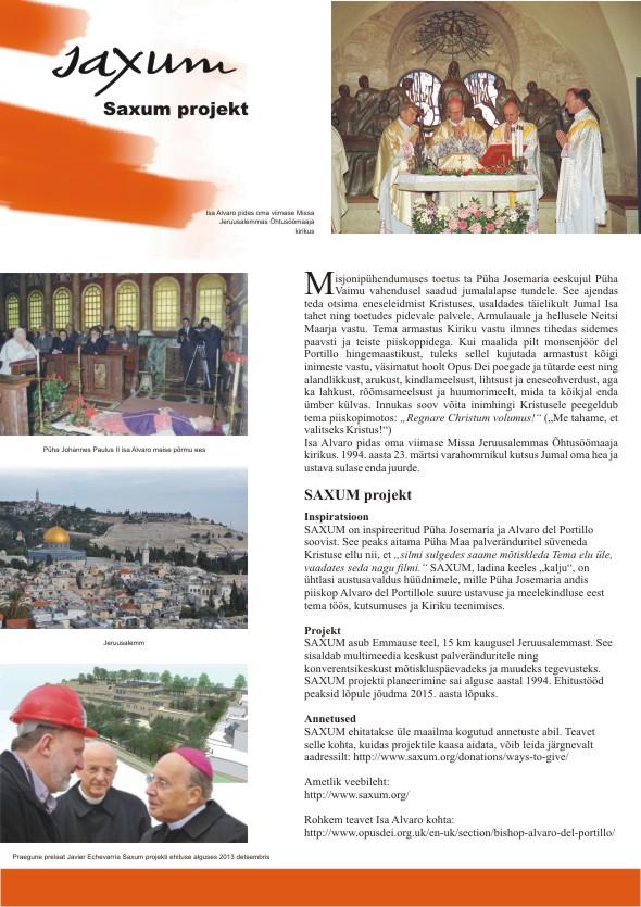 Alvaro del Portillo 100. sünniaastapäeva tähistav plakatite sari, 6. osa. Kujundanud Aili Mittal-Jõgiste
