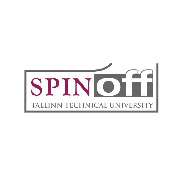 Tallinn University of Technology Spin-off logo. Design Aili Mittal-Jõgiste