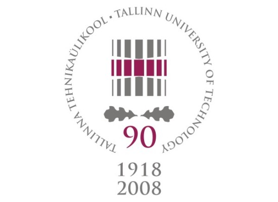 Tallinn University of Technology 90th anniversary logo and its implementations