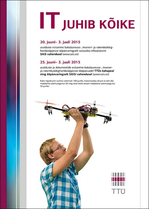Tallinn University of Technology IT faculty posters for Robotex, 2014. Design Grafilius OÜ