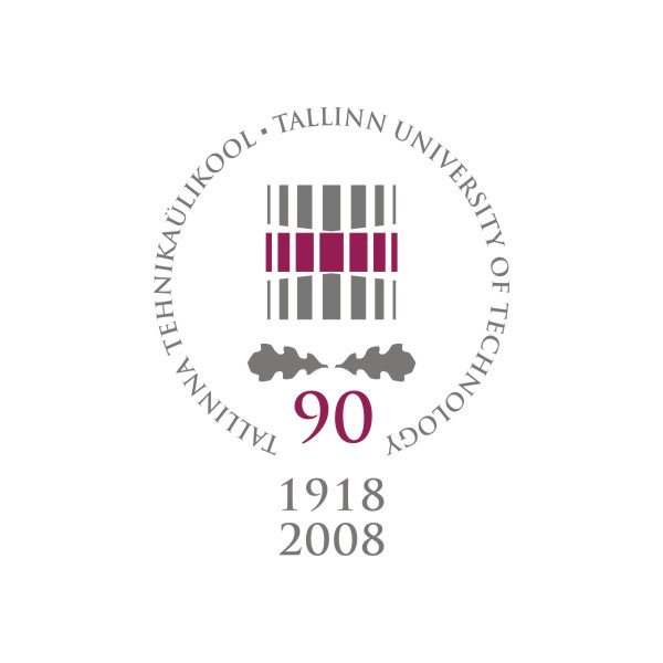 Tallinn University of Technology 90th anniversary logo. Design Aili Mittal-Jõgiste