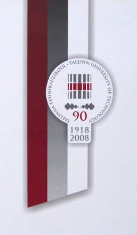 Tallinn University of Technology 90th anniversary logo. Design Aili Mittal-Jõgiste