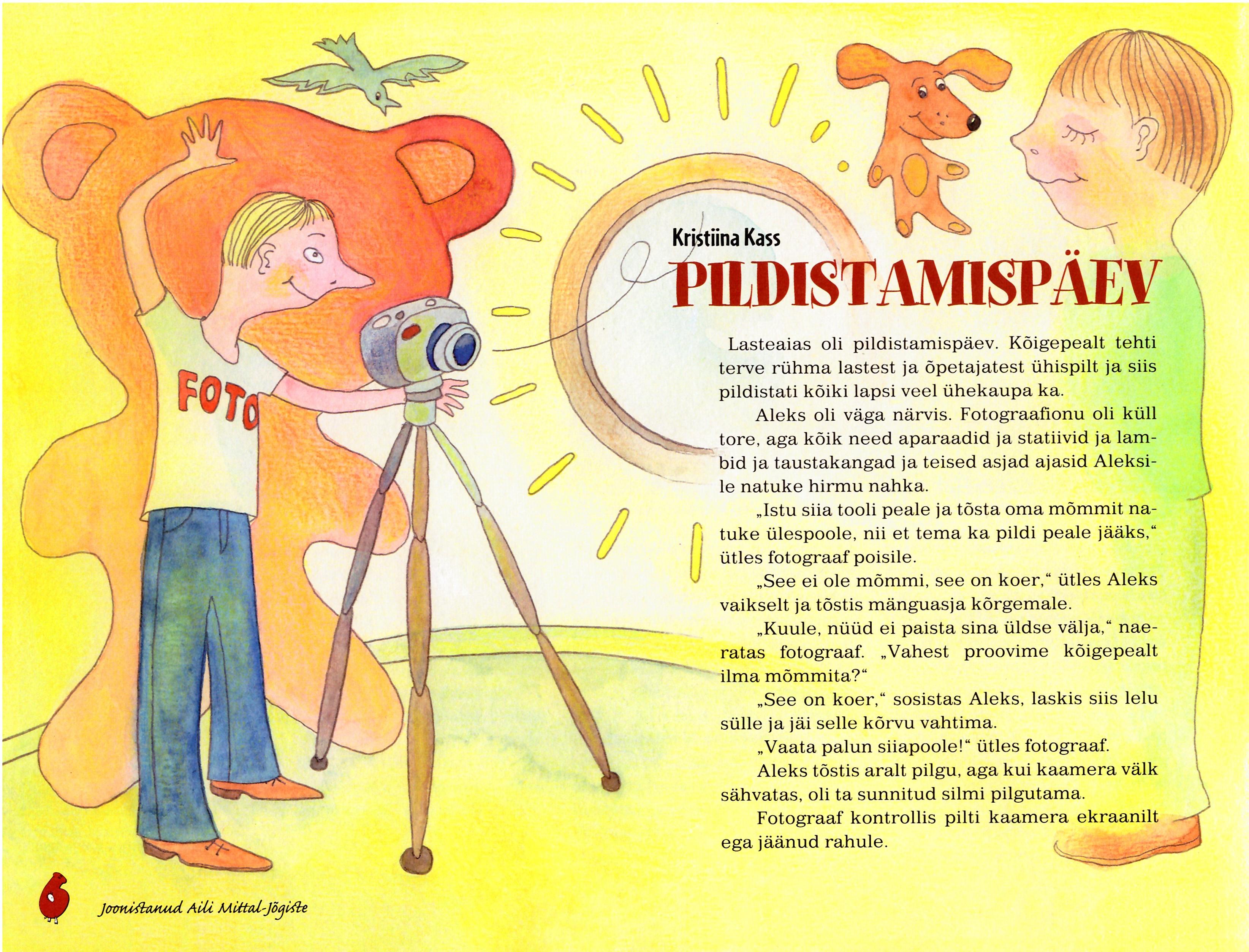 Illustrations for Children's magazine Täheke, 2014-2015. Aili Mittal-Jõgiste