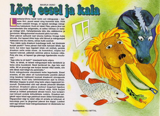 Illustrations for children's magazine Täheke, 2001