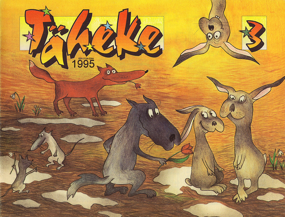 Front cover for children's magazine Täheke, March 1995. Aili Mittal-Jõgiste