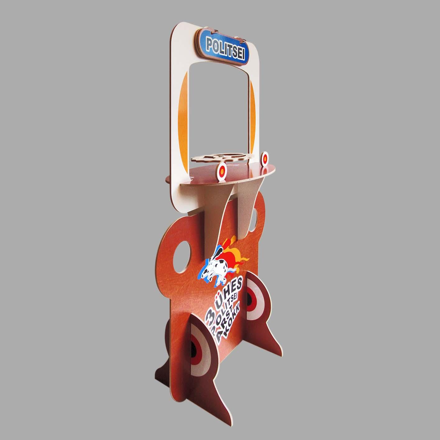 Mängukomplekt 3-ühes külgvaade, politseimäng. Grafilius OÜ
