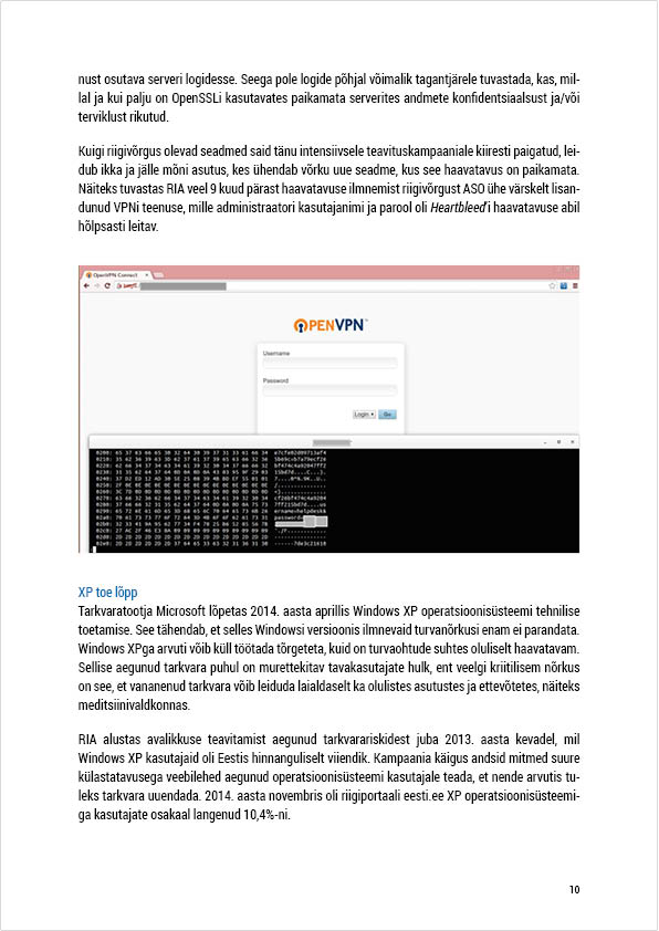 RIA Cyber Security Branch 2014 Annual Report, page 10. Layout Grafilius OÜ