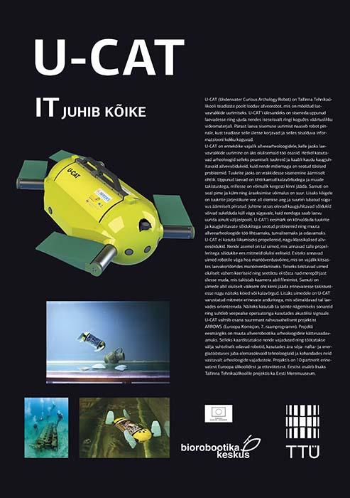 Tallinna Tehnikaülikooli IT teaduskonna plakatid messil Robotex 2014. Kujundus Grafilius OÜ