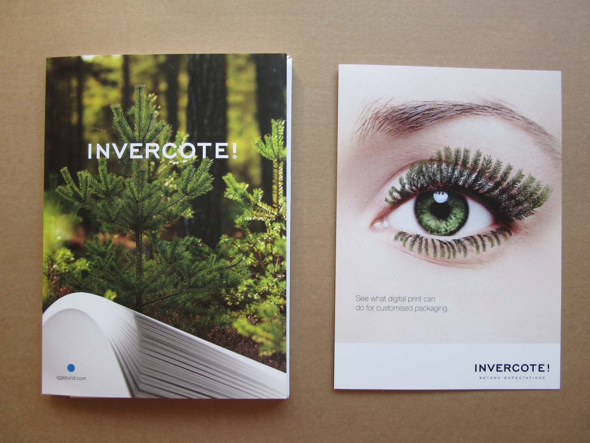 Examples of Iggesund Invercote paperboard