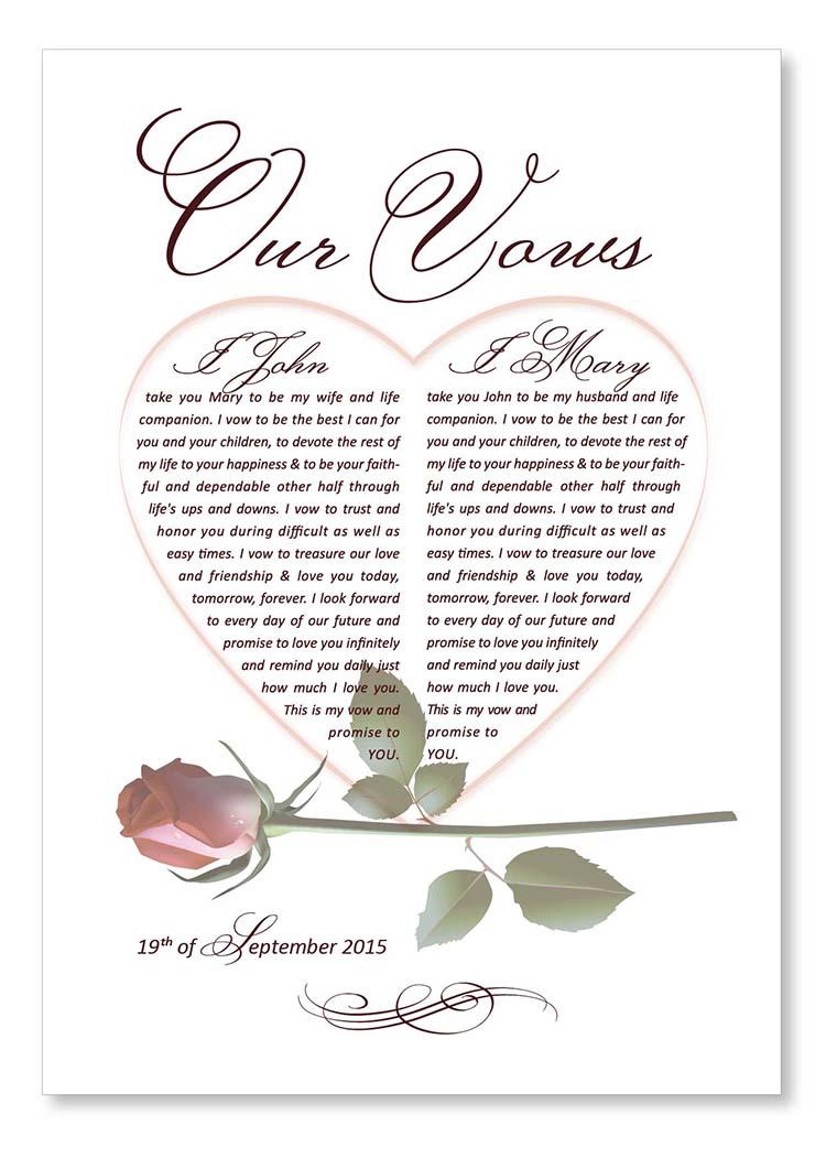 Wedding vows. Design Grafilius OÜ