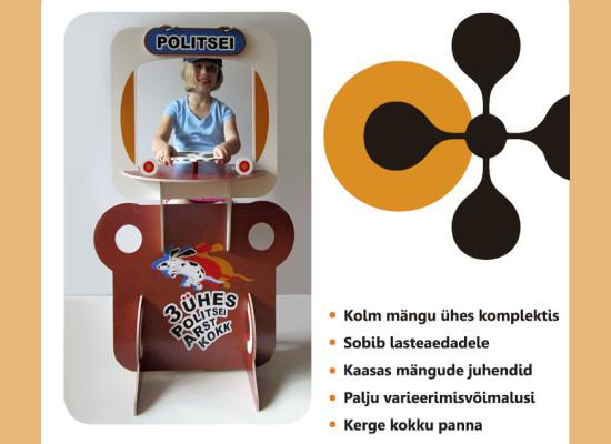 Mängukomplekt 3-ühes metoodiline juhend lasteaiaõpetajatele