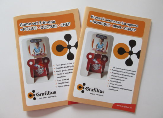The guide of Grafilius Playset 3-in-one in English and in Russian