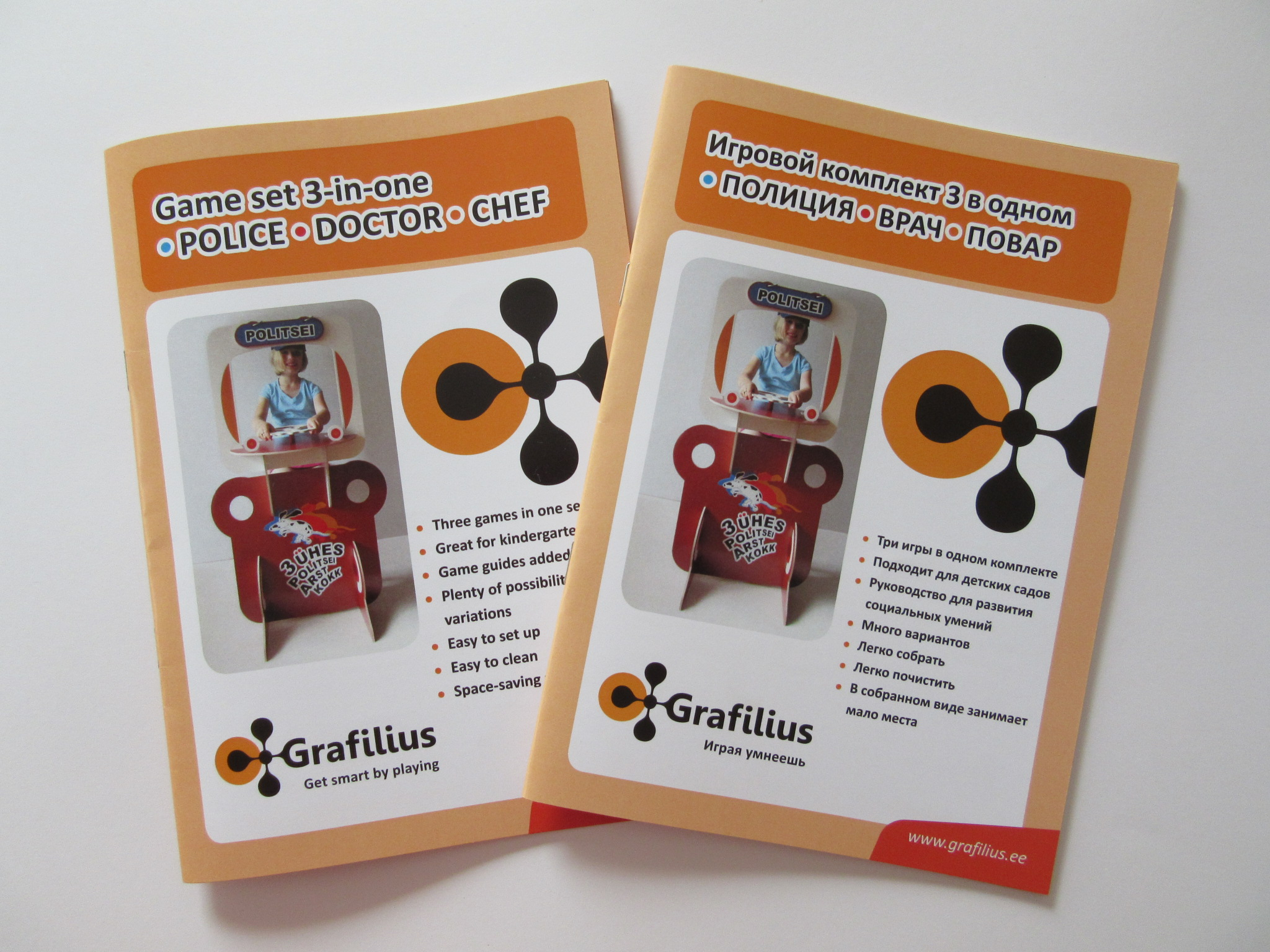 Guide of Grafilius Playset 3-in-one in English and in Russian