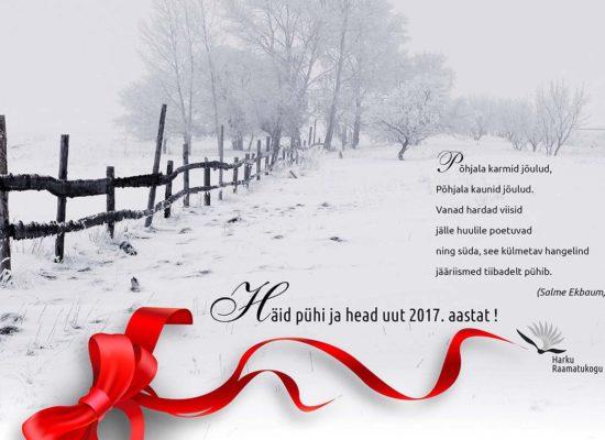 Christmas card 2016-2017 for Harku Library