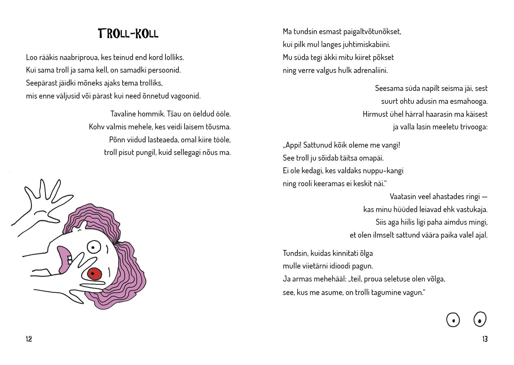 Troll-Koll. Madis Trepp 2017. Illustratsioonid ja kujundus Grafilius OÜ