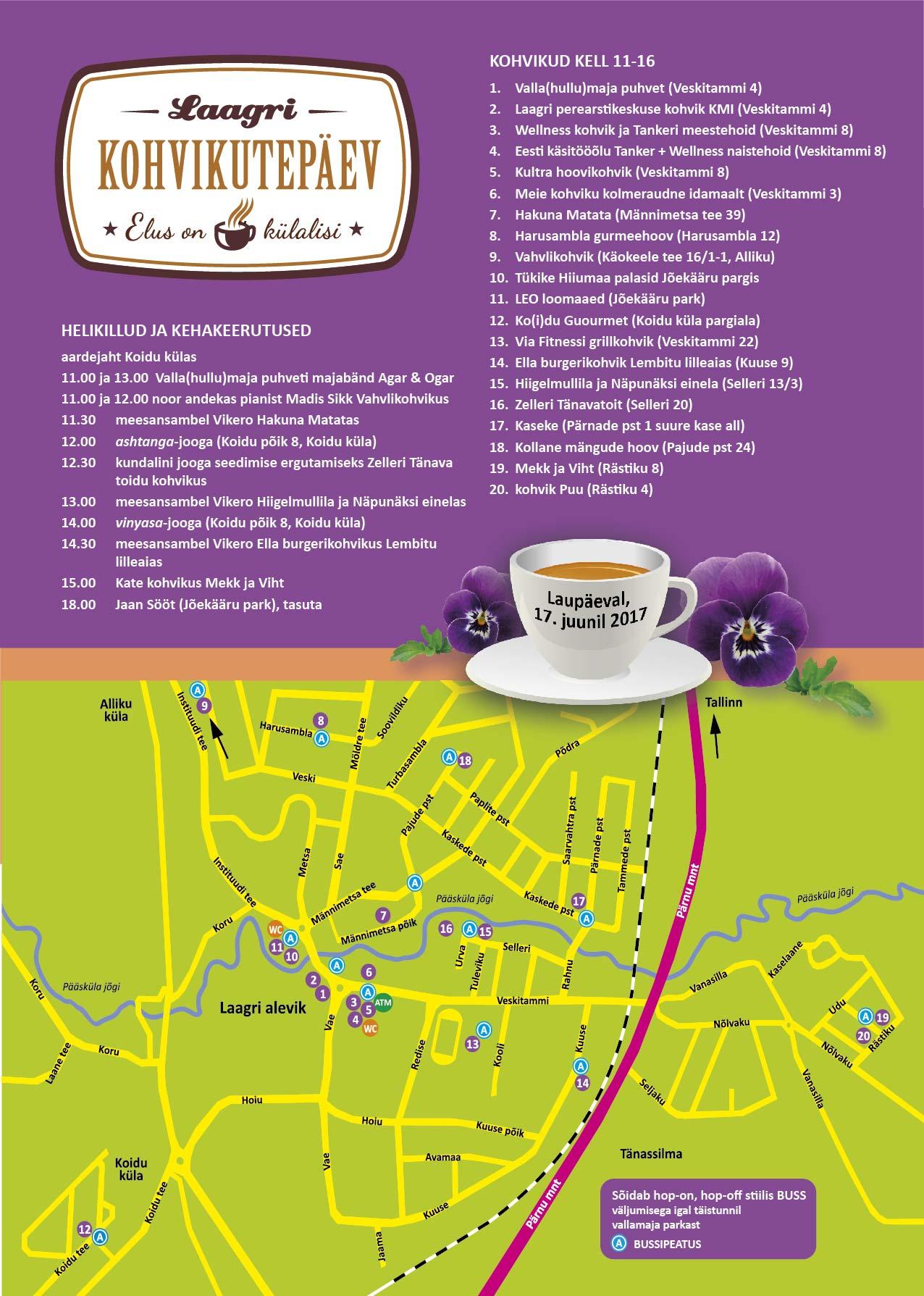Laagri Kohvikutepäev 2017 koos kaardiga