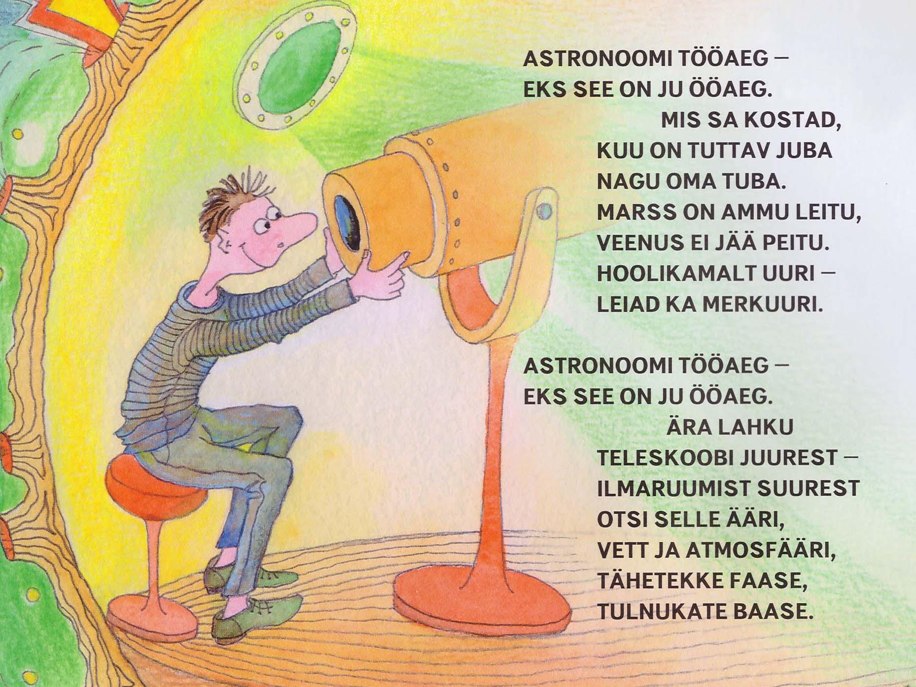 Detail illustratsioonist lasteajakirjale Täheke, november 2017. Aili Mittal-Jõgiste
