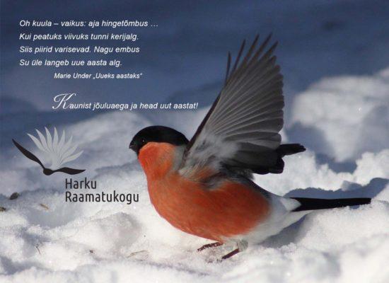 Christmas e-card: Harku Library