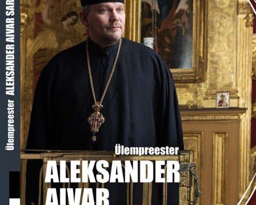Küljendus raamatule Ülempreester Aleksander Aivar Sarapik, sarjast Meie vaimulikud